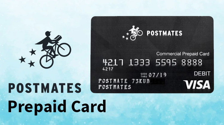 postmates prepaid card
